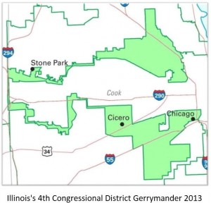 Illinois's 4th Congressional District Gerrymander in 2013