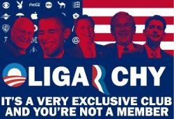 Oligarchy, it's a very exclusive club and you're not a member. It reinforces Corruption, Dysfunction, and Waste in Congress.
